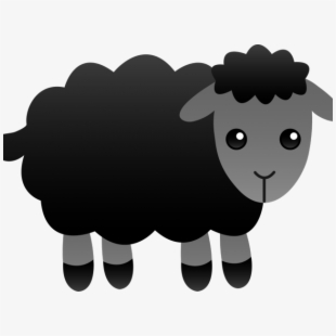 Black sheep clipart small. Free cliparts silhouettes cartoons