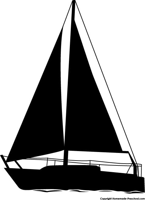 Sailboat clipart silhouette.