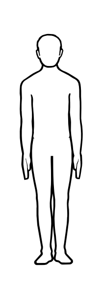 Free body outline.