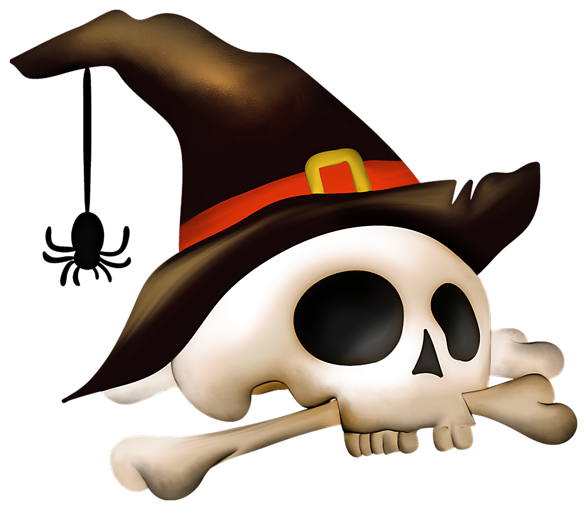 Halloween skull with.