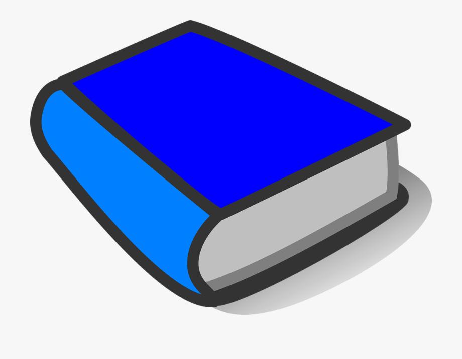Book Blue Bright Blue Closed Shut Thick Element