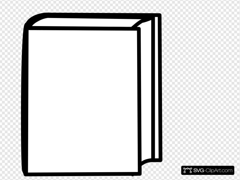 White Closed Book Clip art, Icon and SVG