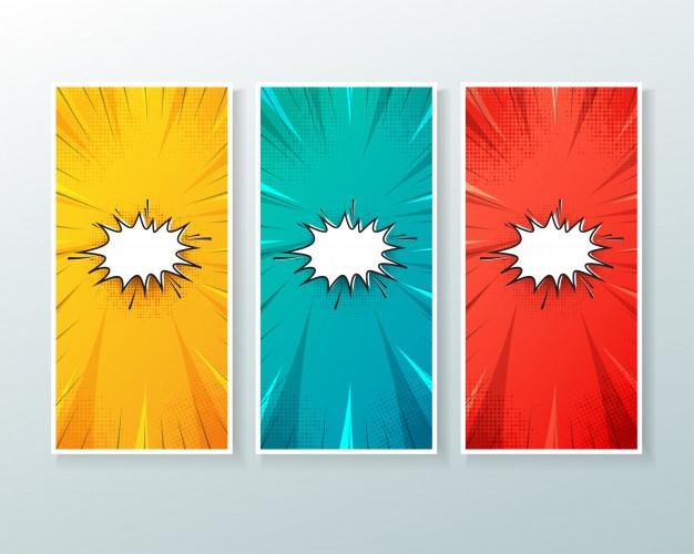 Comic vectors photos.