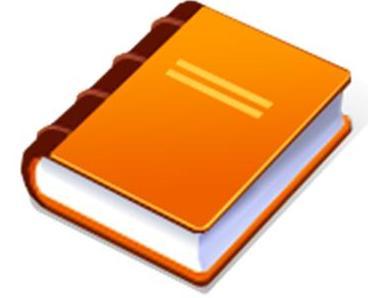 Orange book clipart.