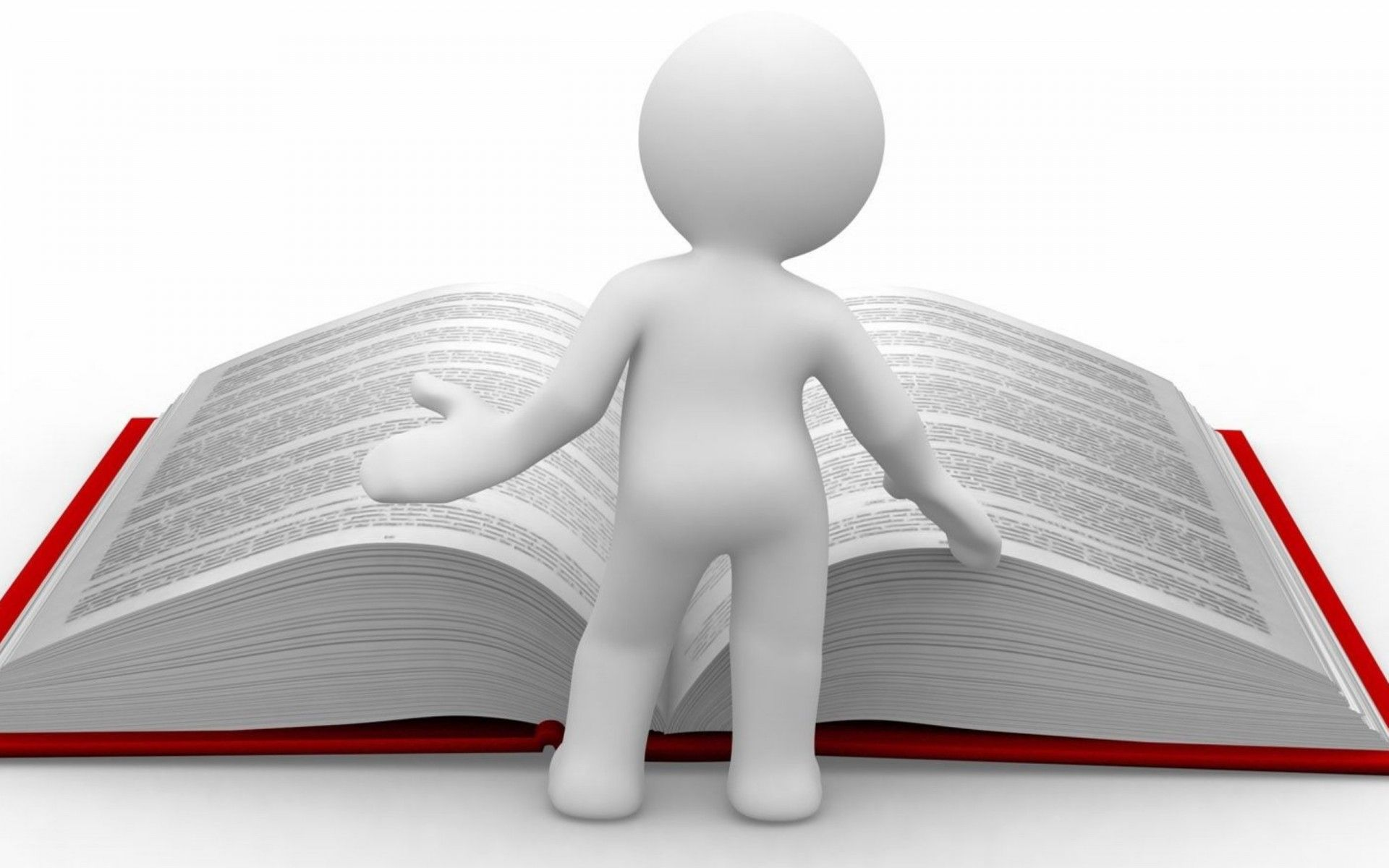 Clipart Man Book Huge Reading Knowledge