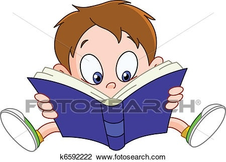 Clipart Of Boy Reading Book K