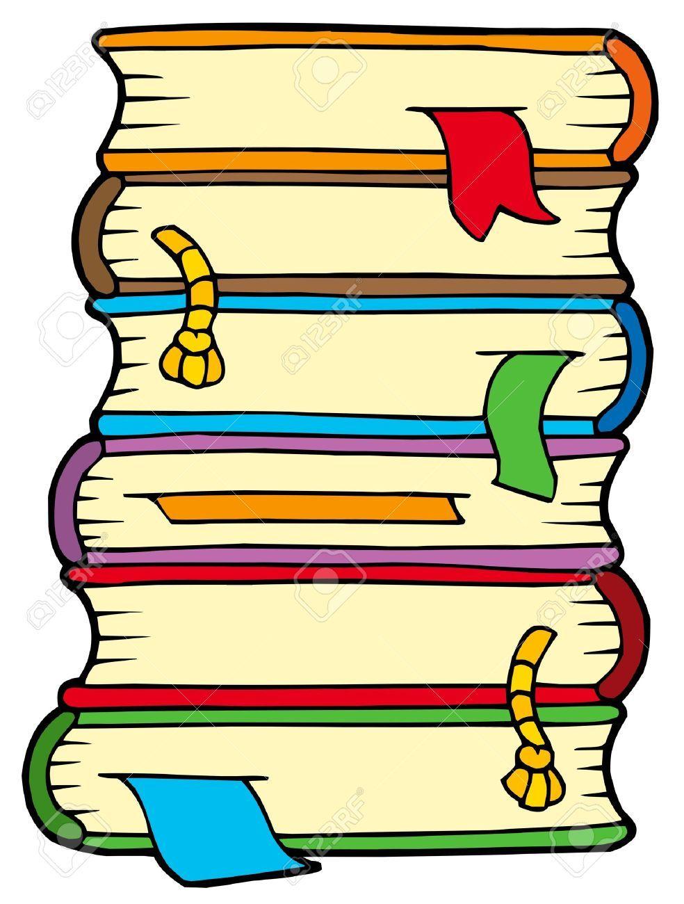 Stack books clipart.