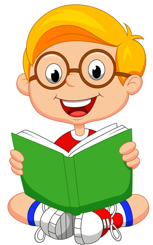 Student Reading Book Clipart