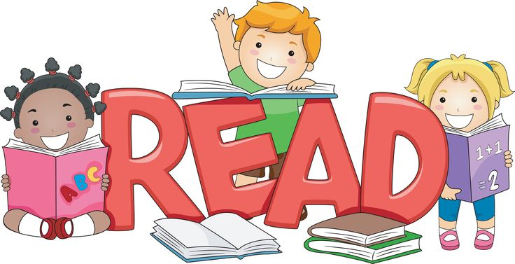 Student Reading A Book Clipart