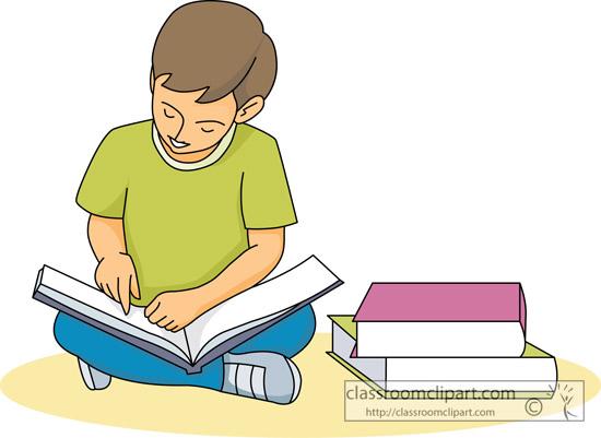 Students reading free clip art children reading books