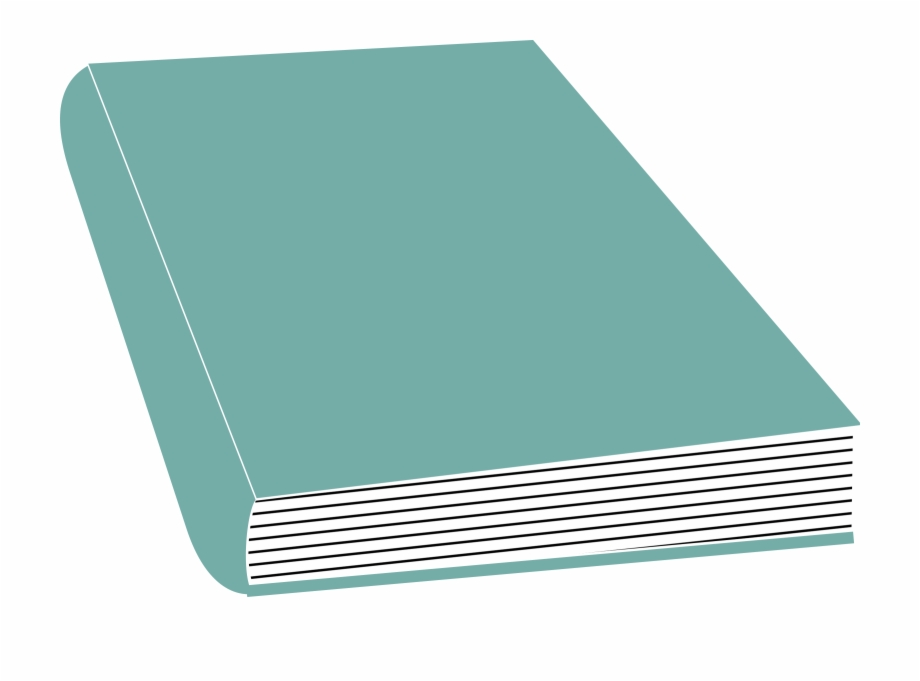 Book clipart teal.