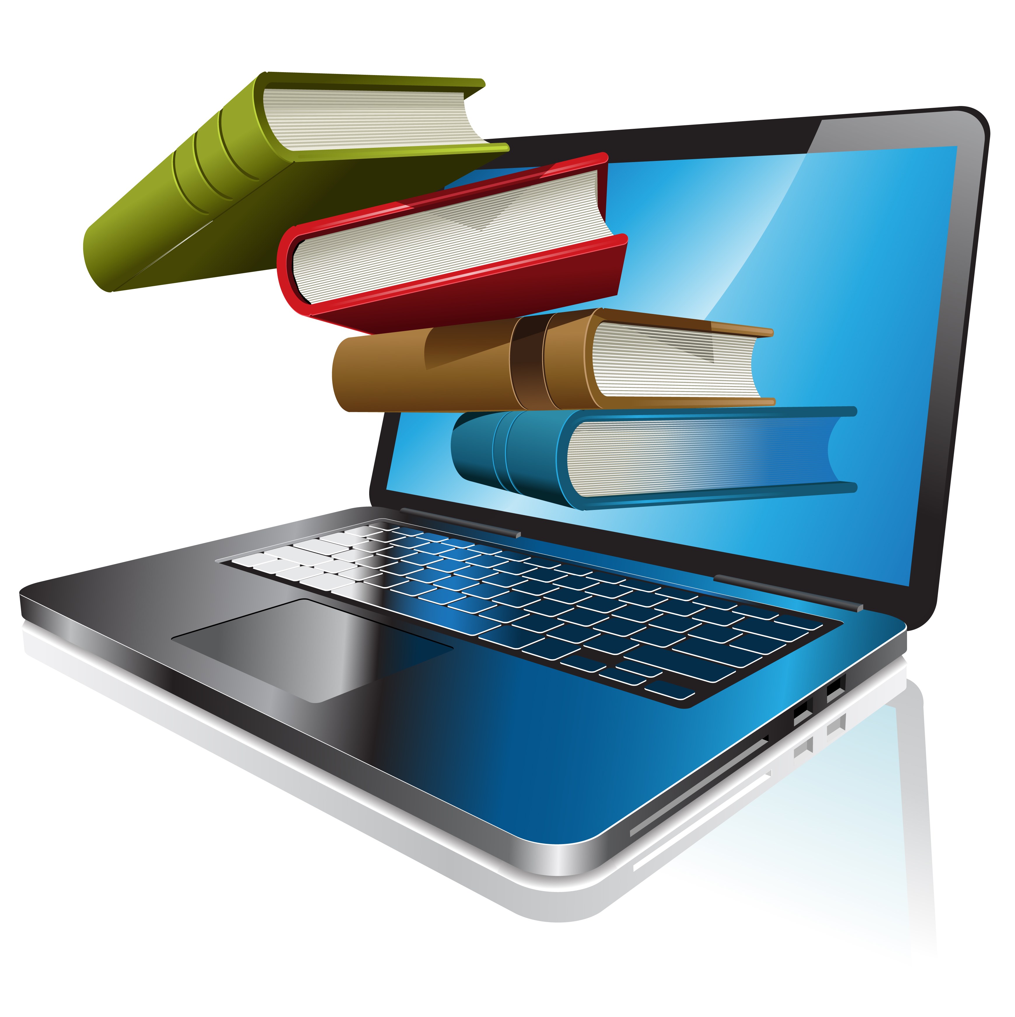 Books clipart laptop.