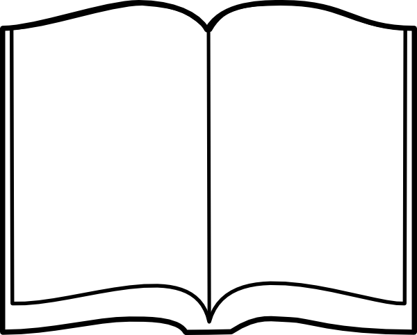 Open book template.