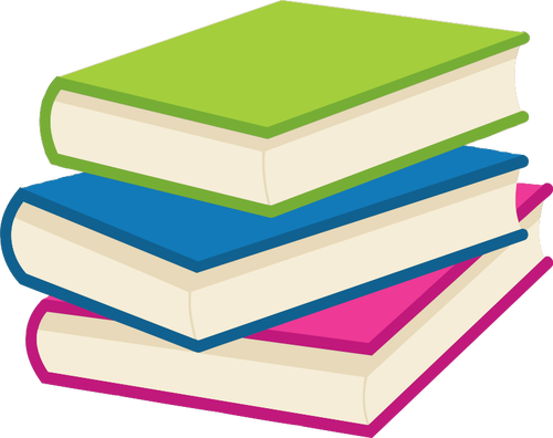 Stack books vector.