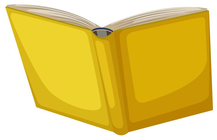 Isolated yellow book.