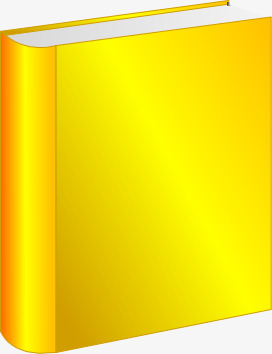 Yellow book clipart