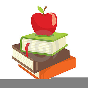 Books and apples.