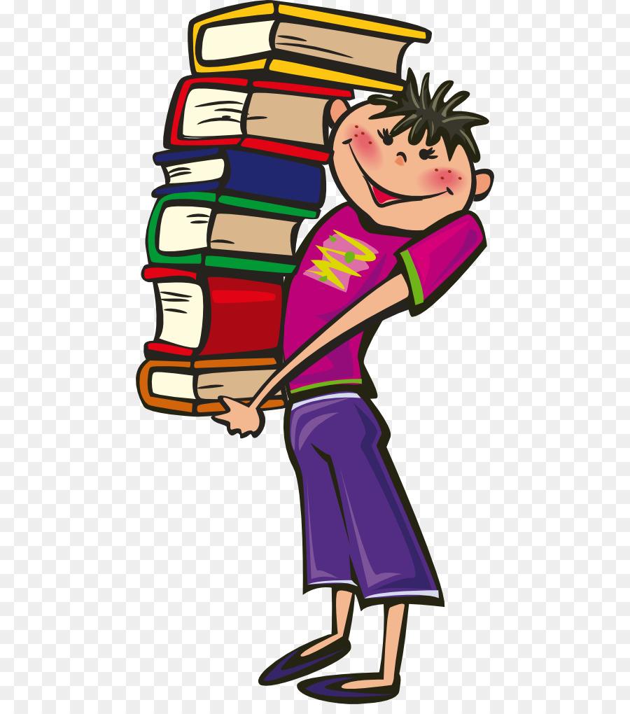 Books cartoon clipart.