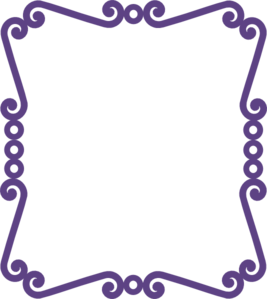 Free purple frame cliparts.