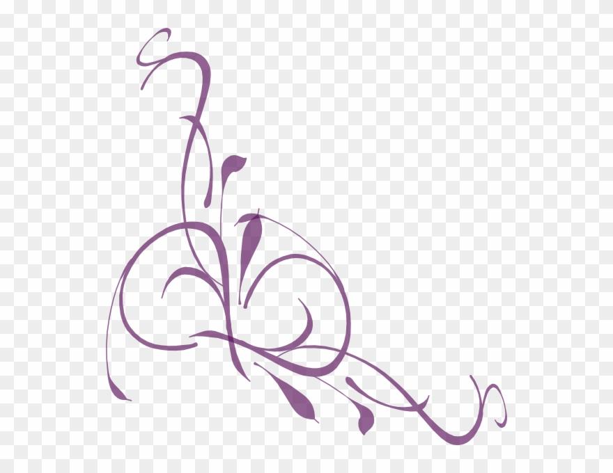 Swirl clipart lavender purple.