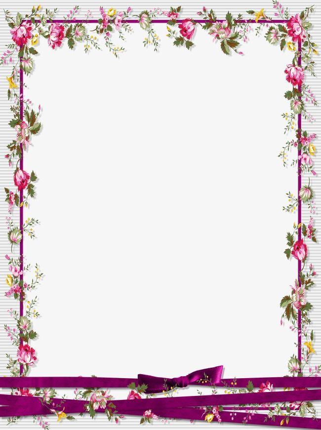 Floral border design.