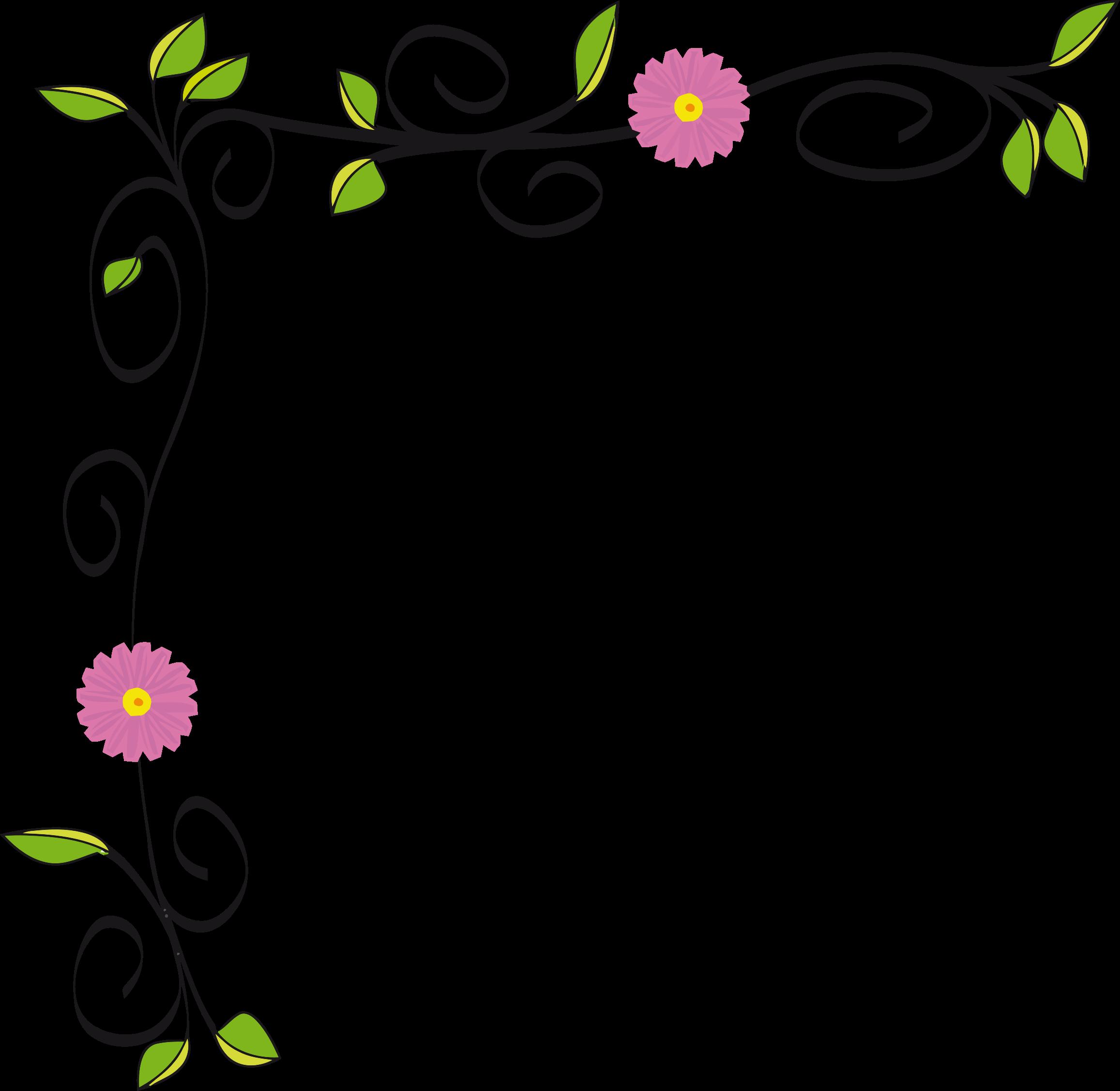 Floral border vectorized.