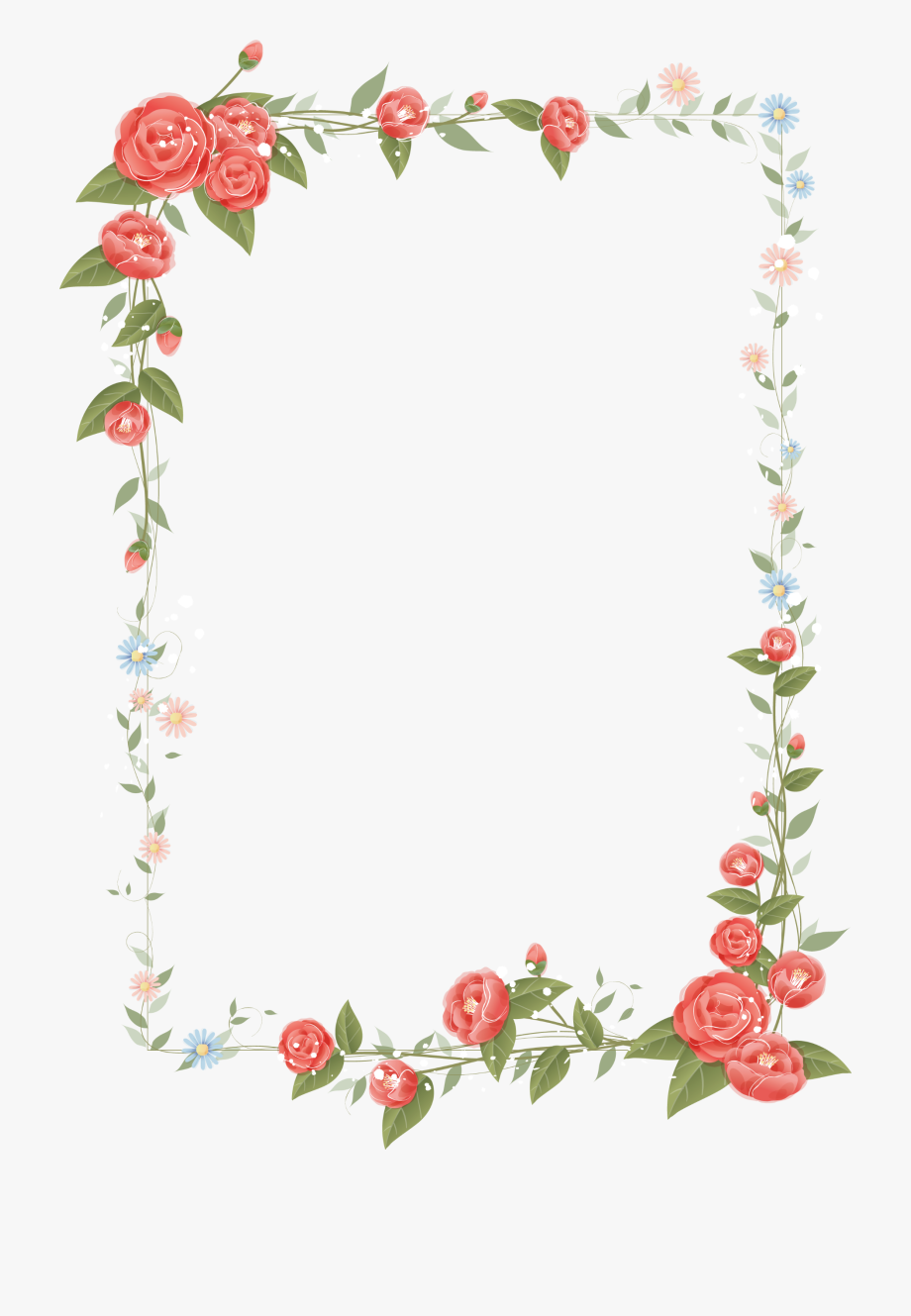 Rose frame design.