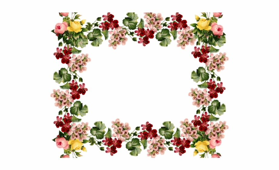 Flowers borders clipart.