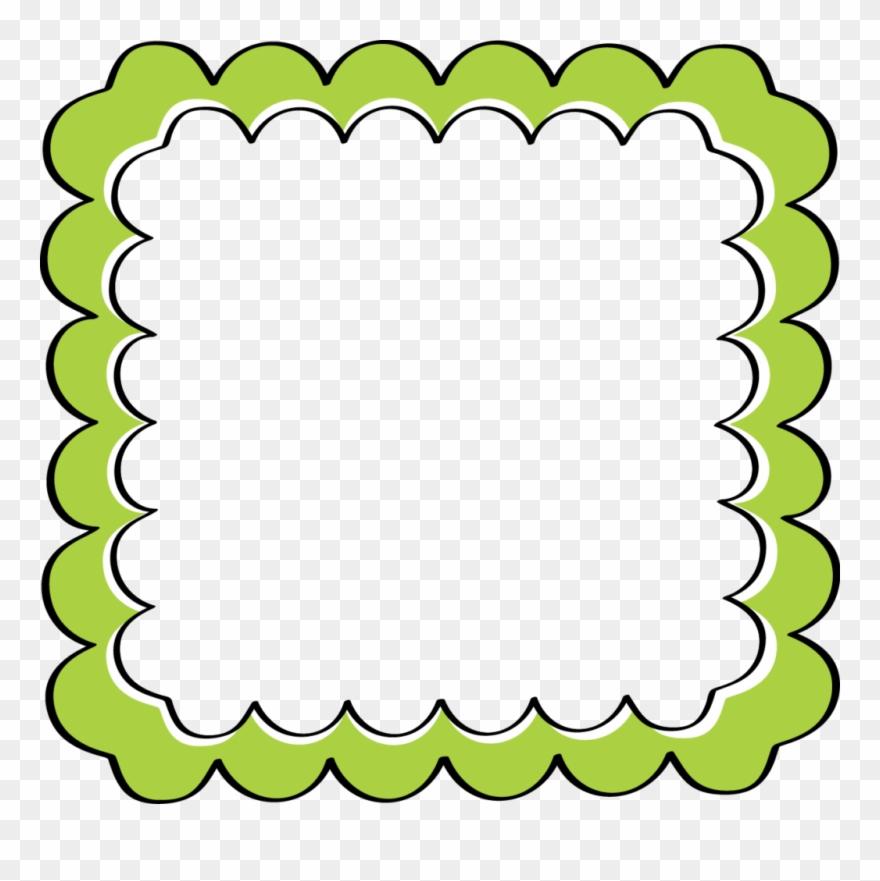 Green border frame.
