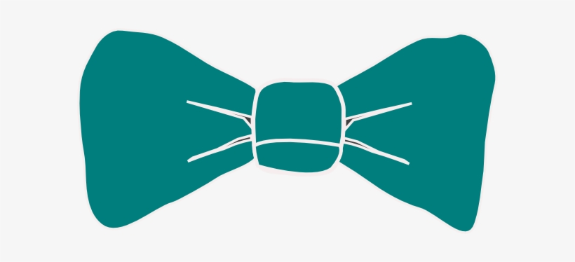 Teal bow tie.