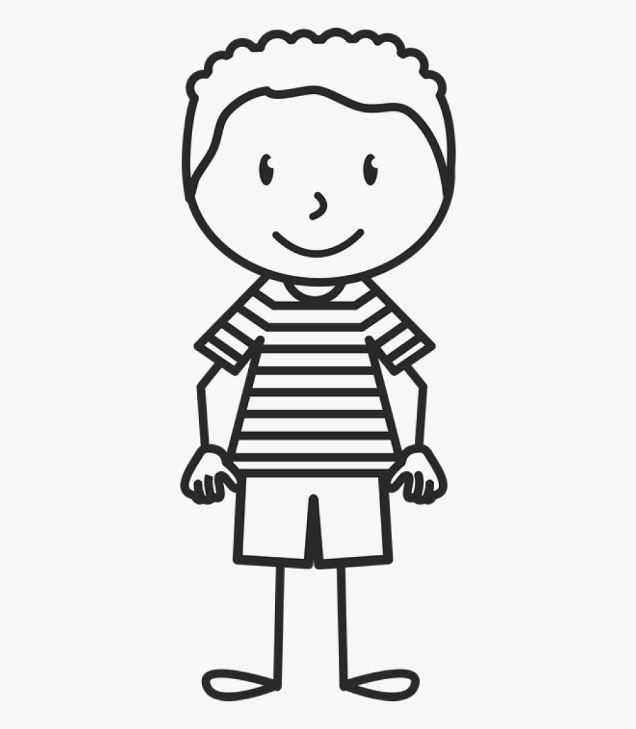 Boy wearing striped.