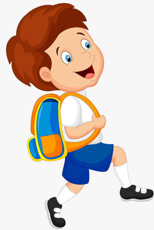 Boy student clipart.