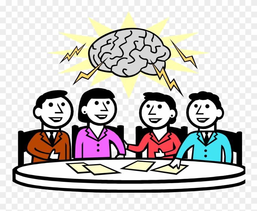 Brainstorming group brainstorm.