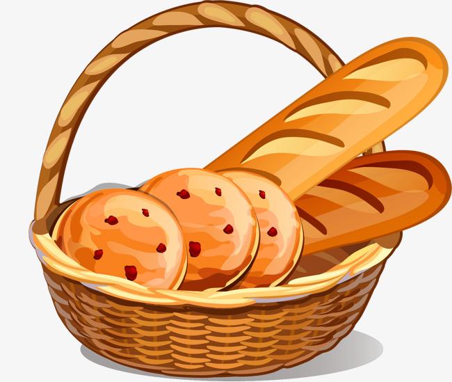 Basket bread clipart.