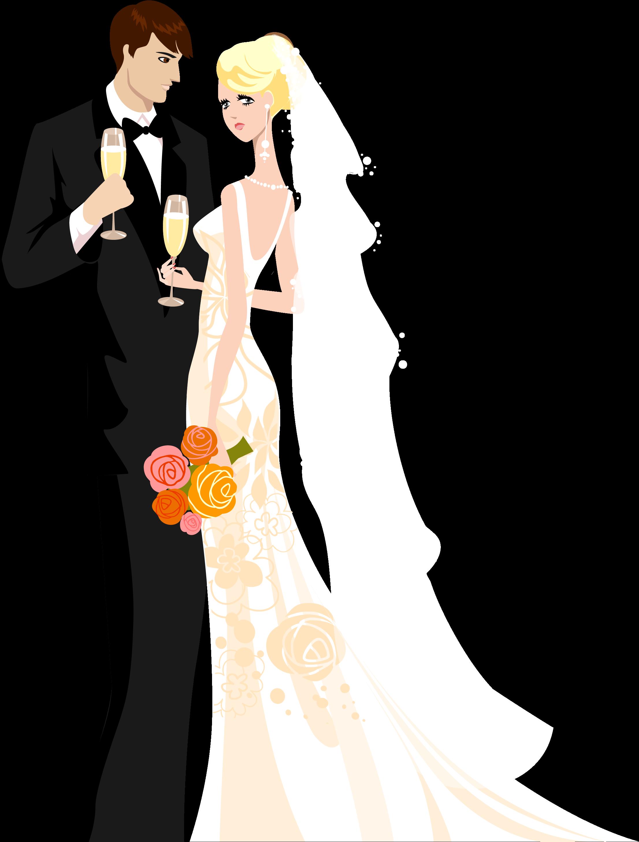 Bride Groom Clipart