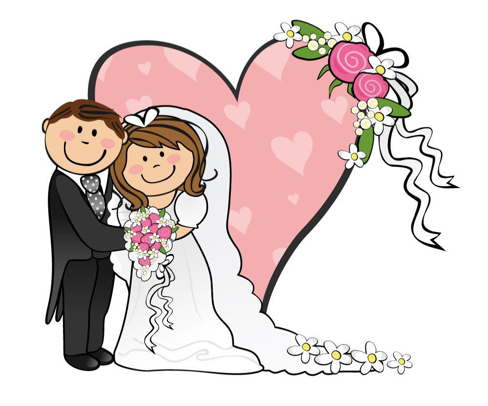Cartoon funny bride.