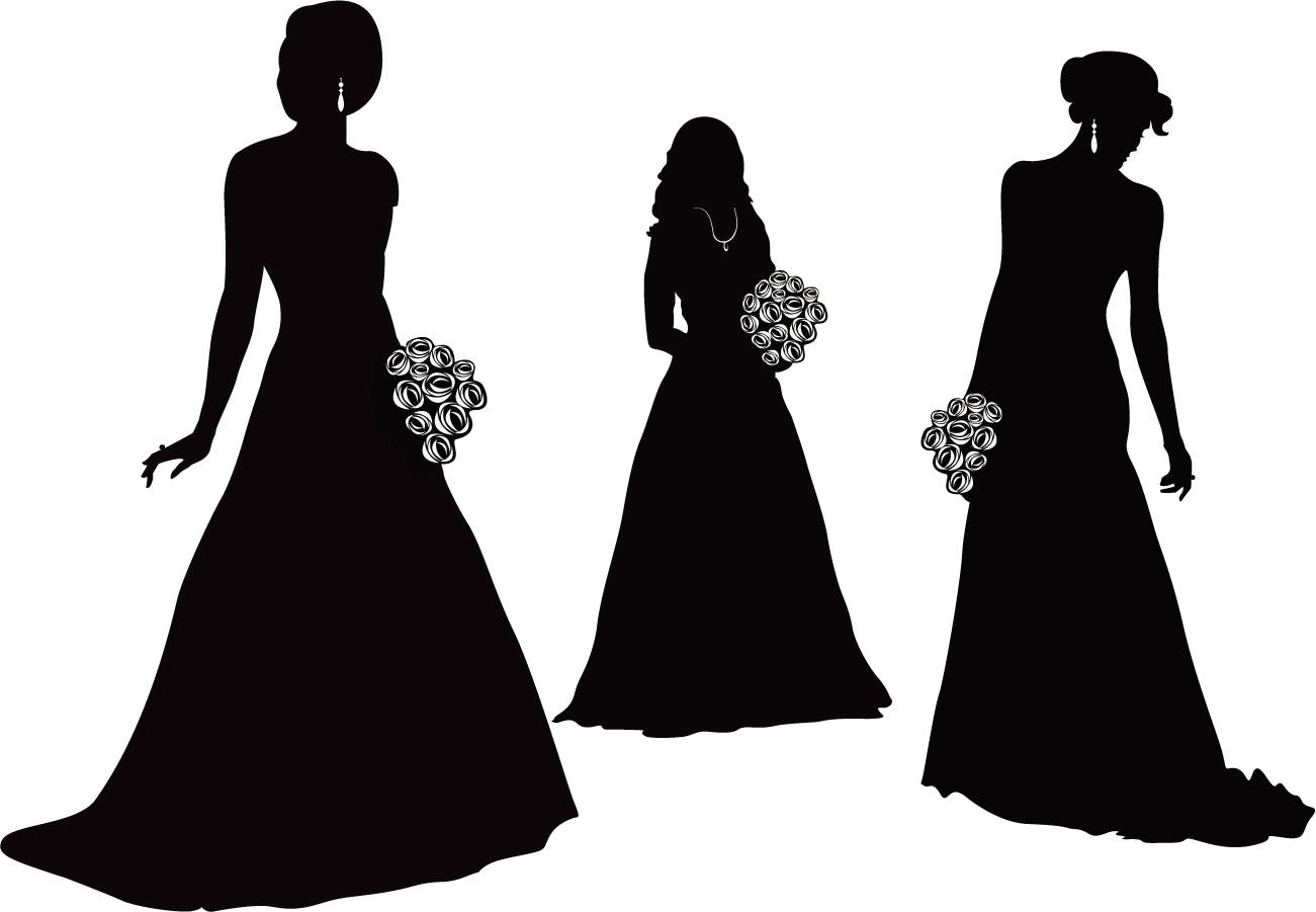 Bridal clipart silhouette.
