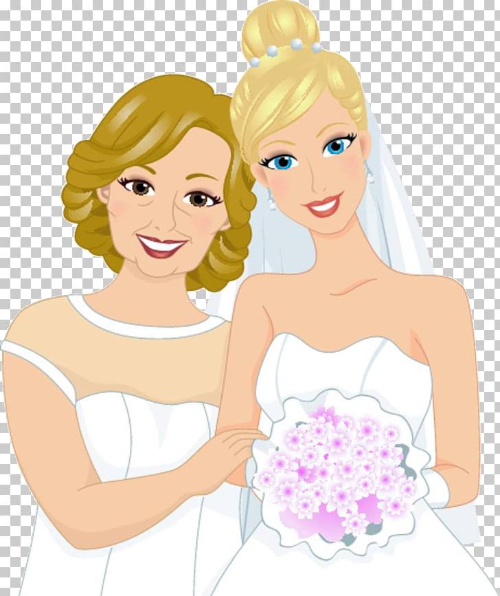Bridegroom mother bride.