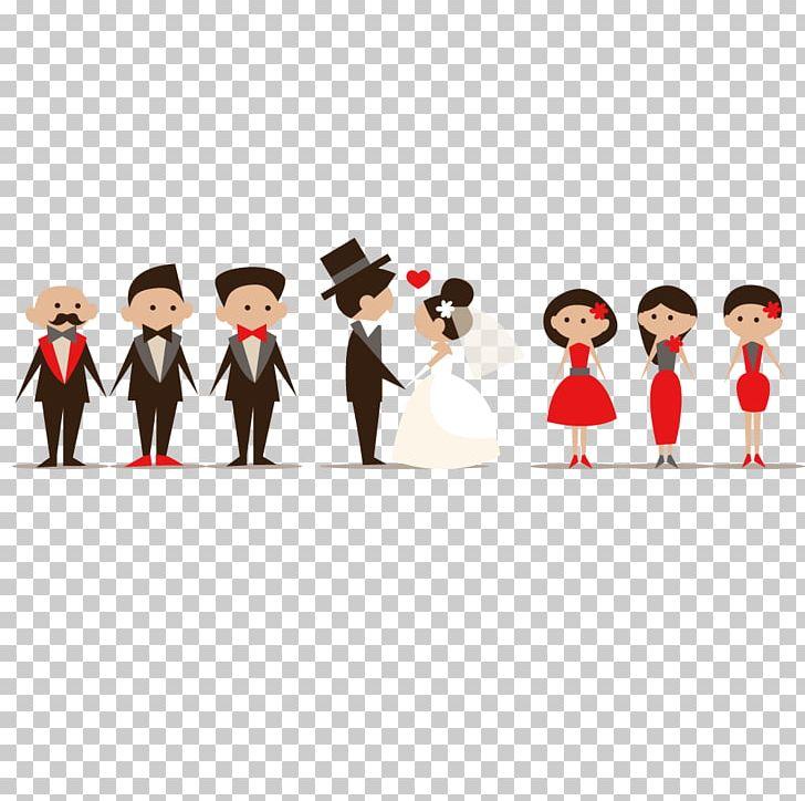 Wedding invitation cartoon.