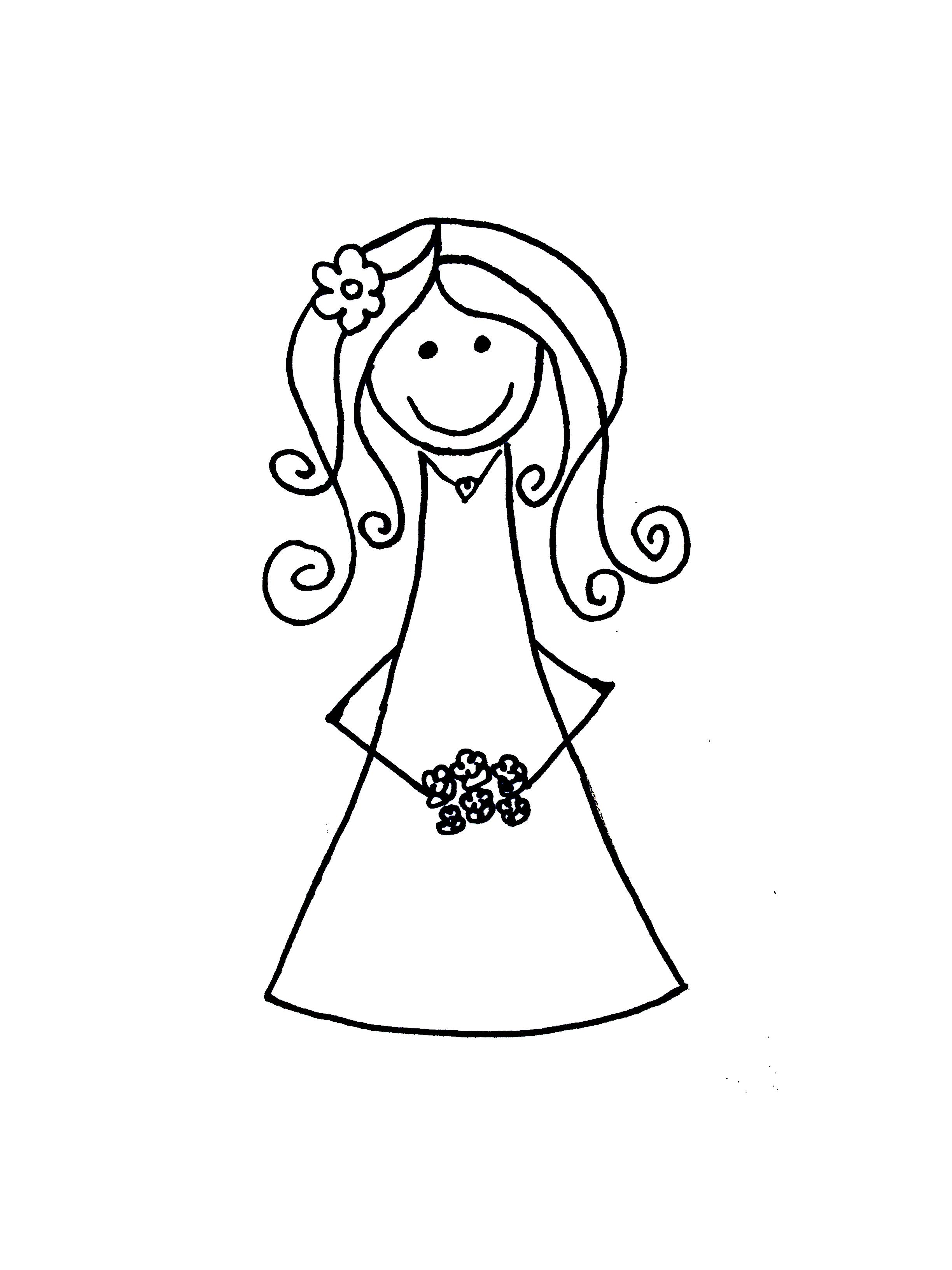 Free cartoon bride.
