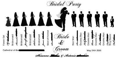 Wedding party graphics.