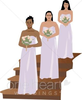 Lavender bridesmaids clipart.