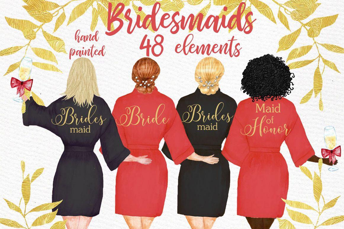 Bridesmaid clipart wedding.