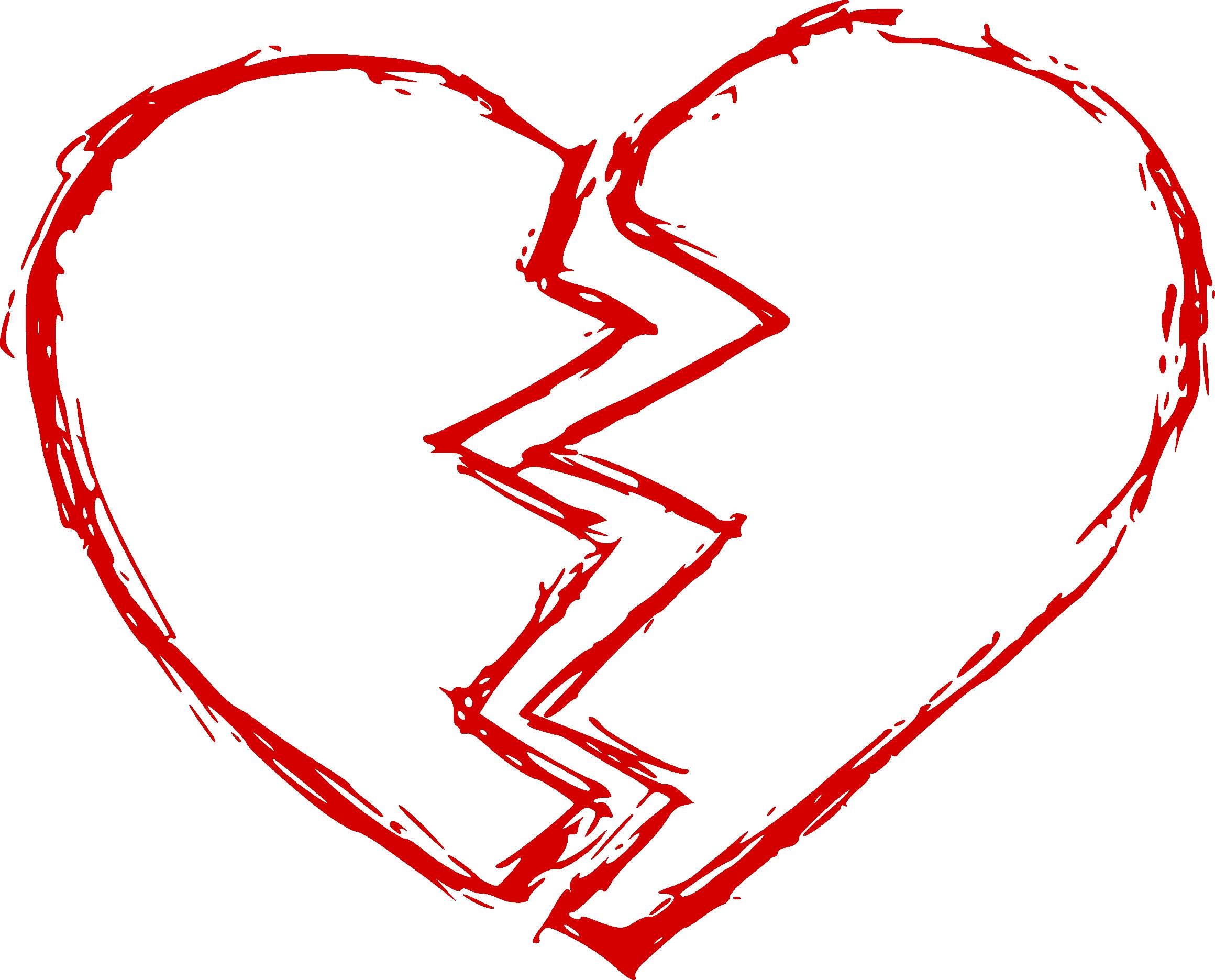 Broken heart png clipart.
