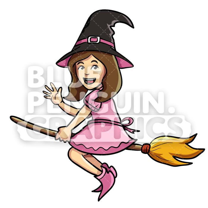 Cute witch broom.
