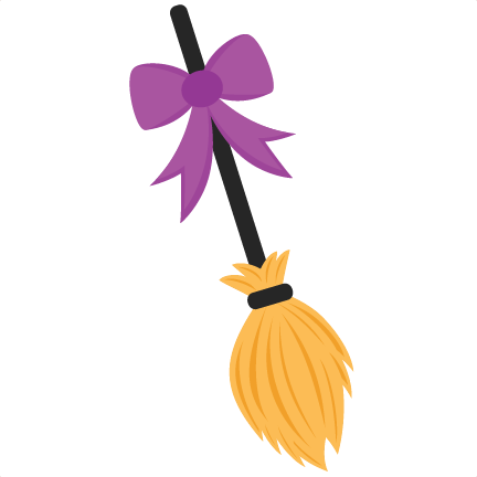 Witch broom svg.