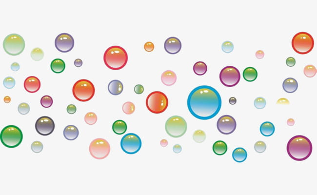 Colorful water bubbles.