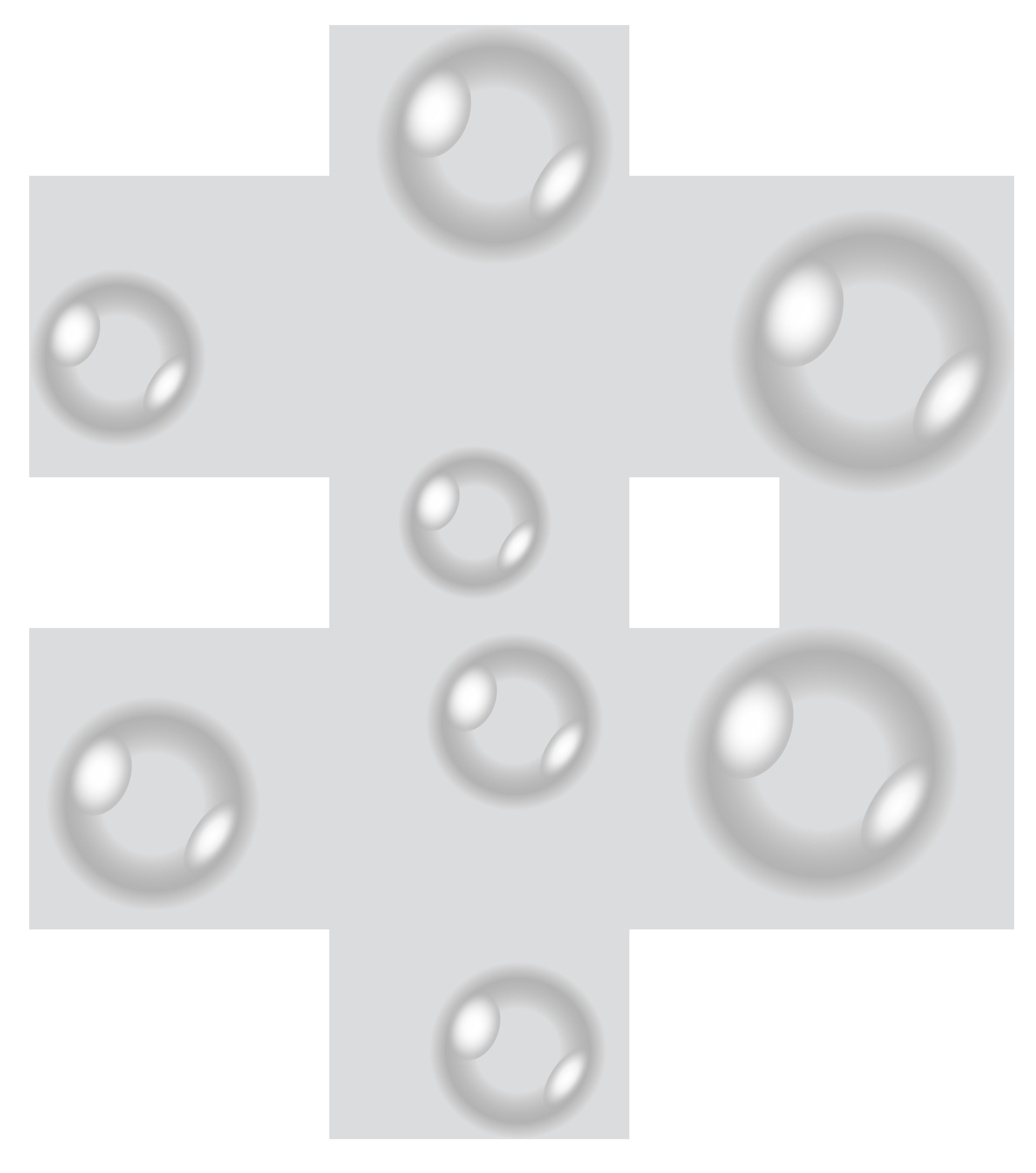 Transparent Bubbles PNG Clip Art Image