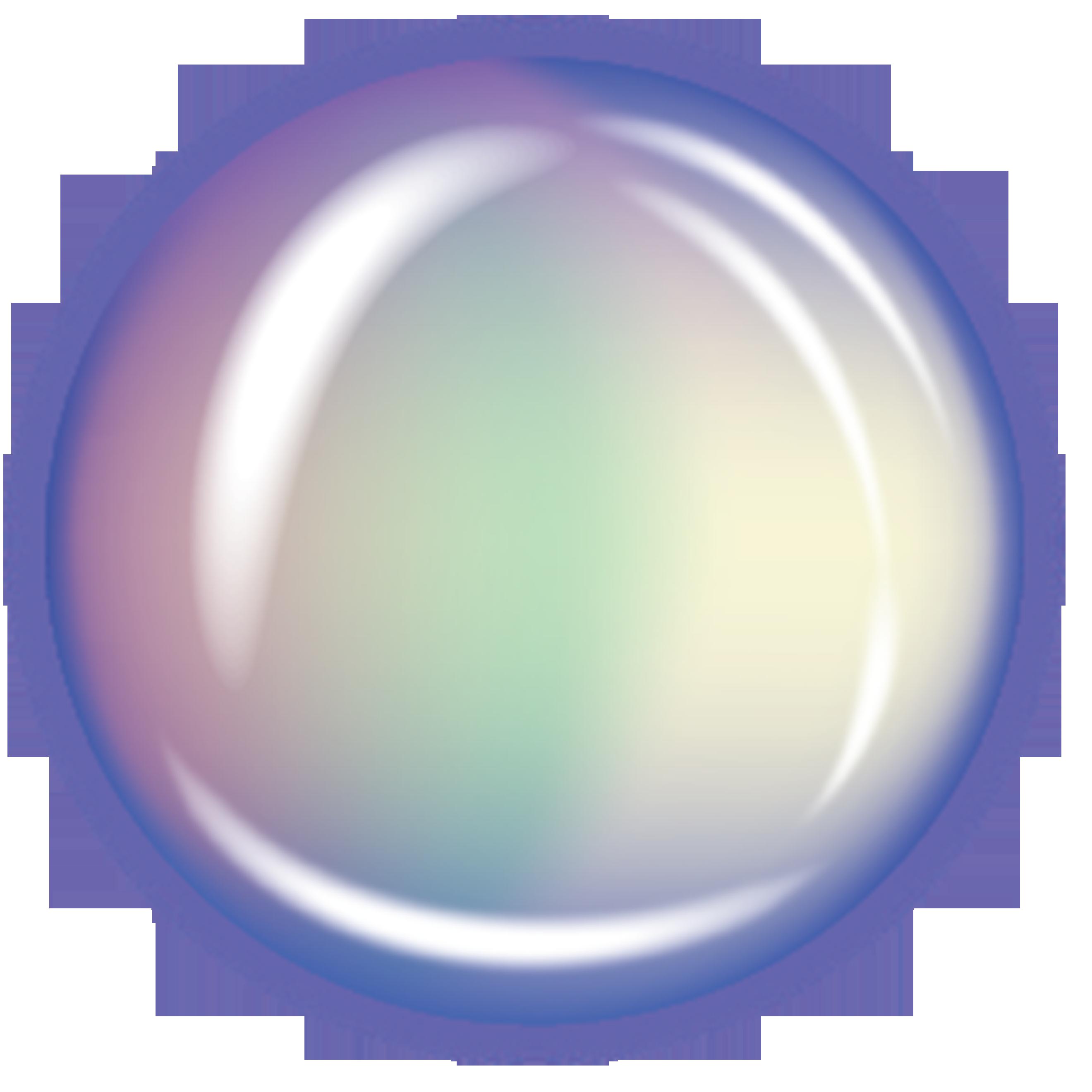 Transparent bubble clip.