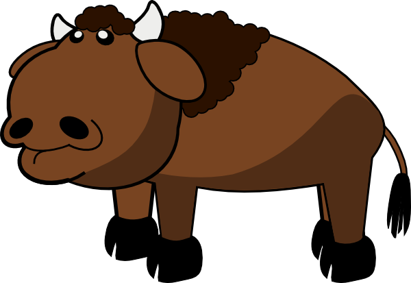 Buffalo clipart animated. Free cartoon bison cliparts